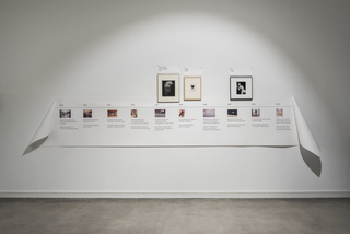 Timeline on the history of photography including the three bodies of work presented in the show, Barlach Halle K, 2018